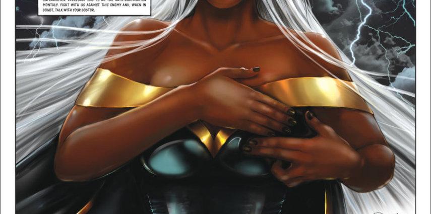 Las superheroínas luchan contra el cáncer de mama